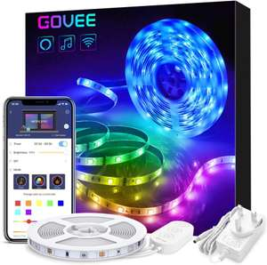 Alexa controlled LED Strip Lights 5m £20.47 or 10m £36.79 Lightning Deal by Govee UK and Fulfilled by Amazon