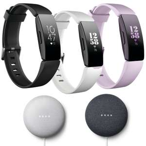Fitbit Inspire HR Fitness Tracker + Free Google Nest Mini £74.99 - Available In Various Colours @ Currys