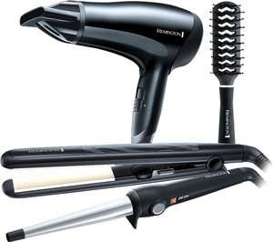 Currys - REMINGTON S3500GP Haircare Gift Pack 5pc - Black - £29.99 was £59.99 - Free Click & Collect