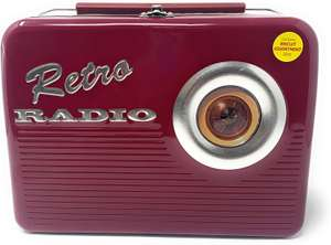 Retro Radio Christmas tin with Biscuit Assortment 350g reduced to £3.99 @ B&M Bargains instore (Belfast)