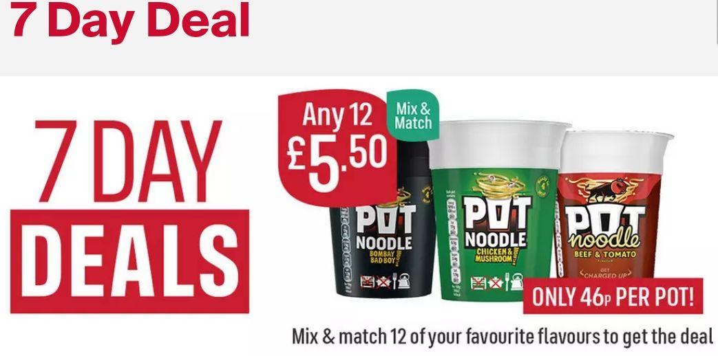 12 Pot Noodles for £5.50 at Iceland