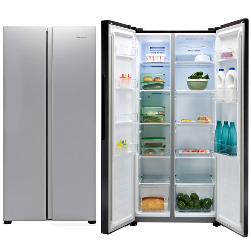 Fridgemaster American Fridge Freezer In Silver Only - Frost Free - MS83430FFS £360.05 Using Code @ AO eBay