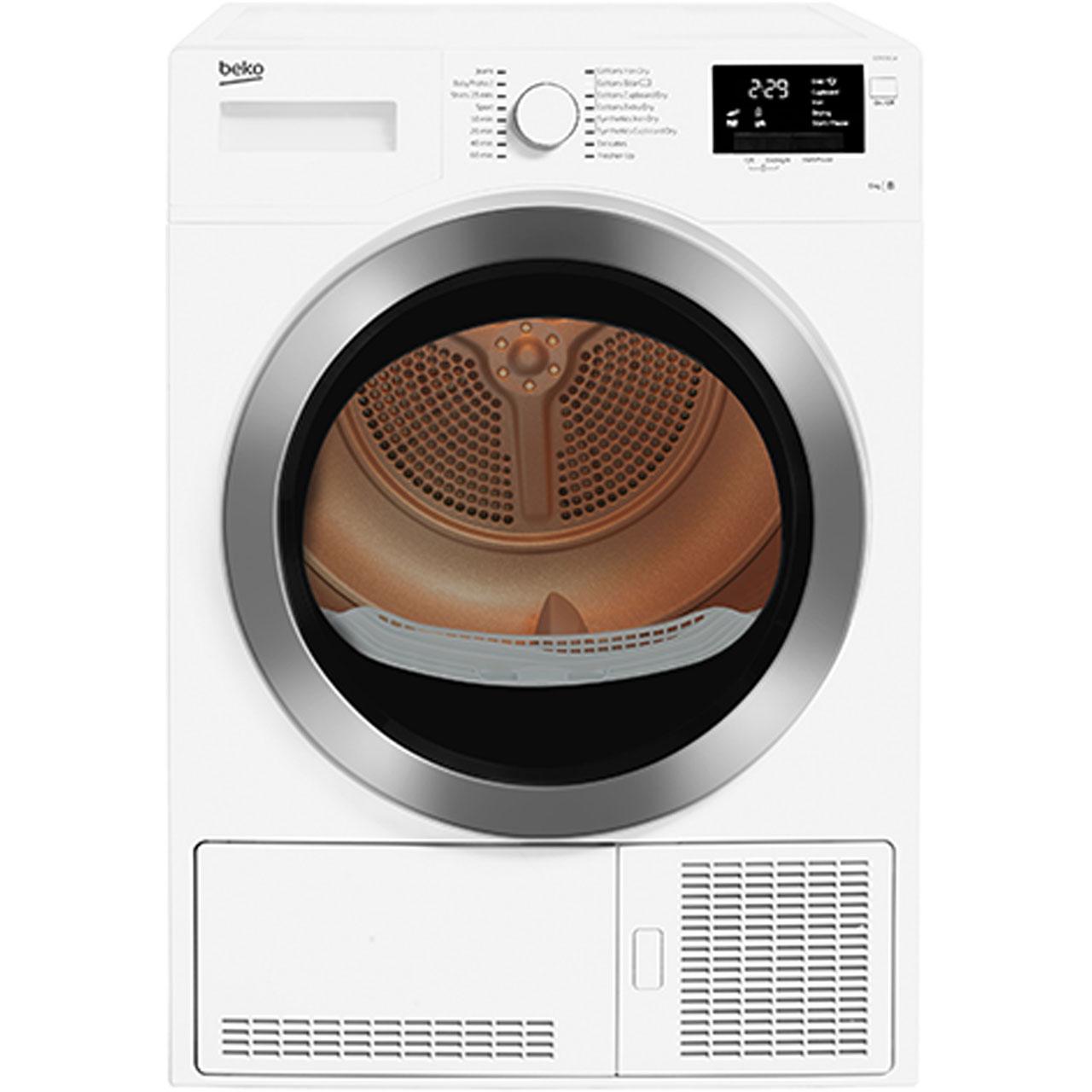 BEKO DCR93161W 9kg condenser tumble dryer now £249 ao.com