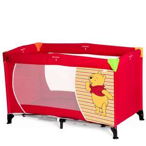 Hauck Deluxe Dream n Play Travel Cot / Playpen - Pooh Springs Brights Red at Online4baby for £34.90 delivered