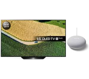 "LG OLED55B9PLA 55"" Smart 4K Ultra HD HDR OLED TV with Google Assistant & Nest Mini Bundle Free 5 Year Guarantee at Currys £1.109"