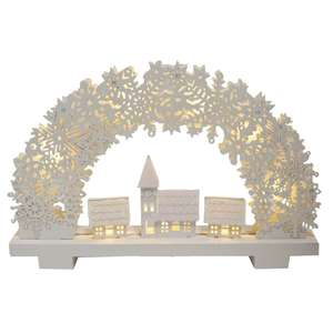LED Light-Up White Glitter Village - £6.00 @ The Works + free click & collect
