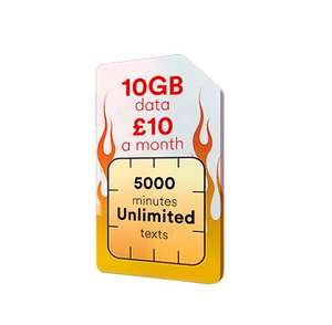 10GB 4G Data, 5000 Minutes, Unlimited Texts just £10 per month (12 month contract - £120) @ Virgin Mobile