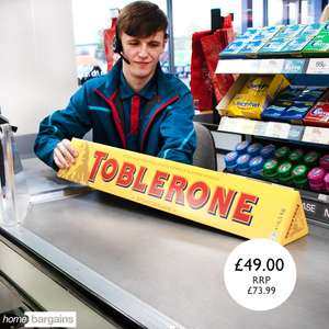 4.5kg Toblerone Bar £49.99 @ Home Bargains (Crewe)