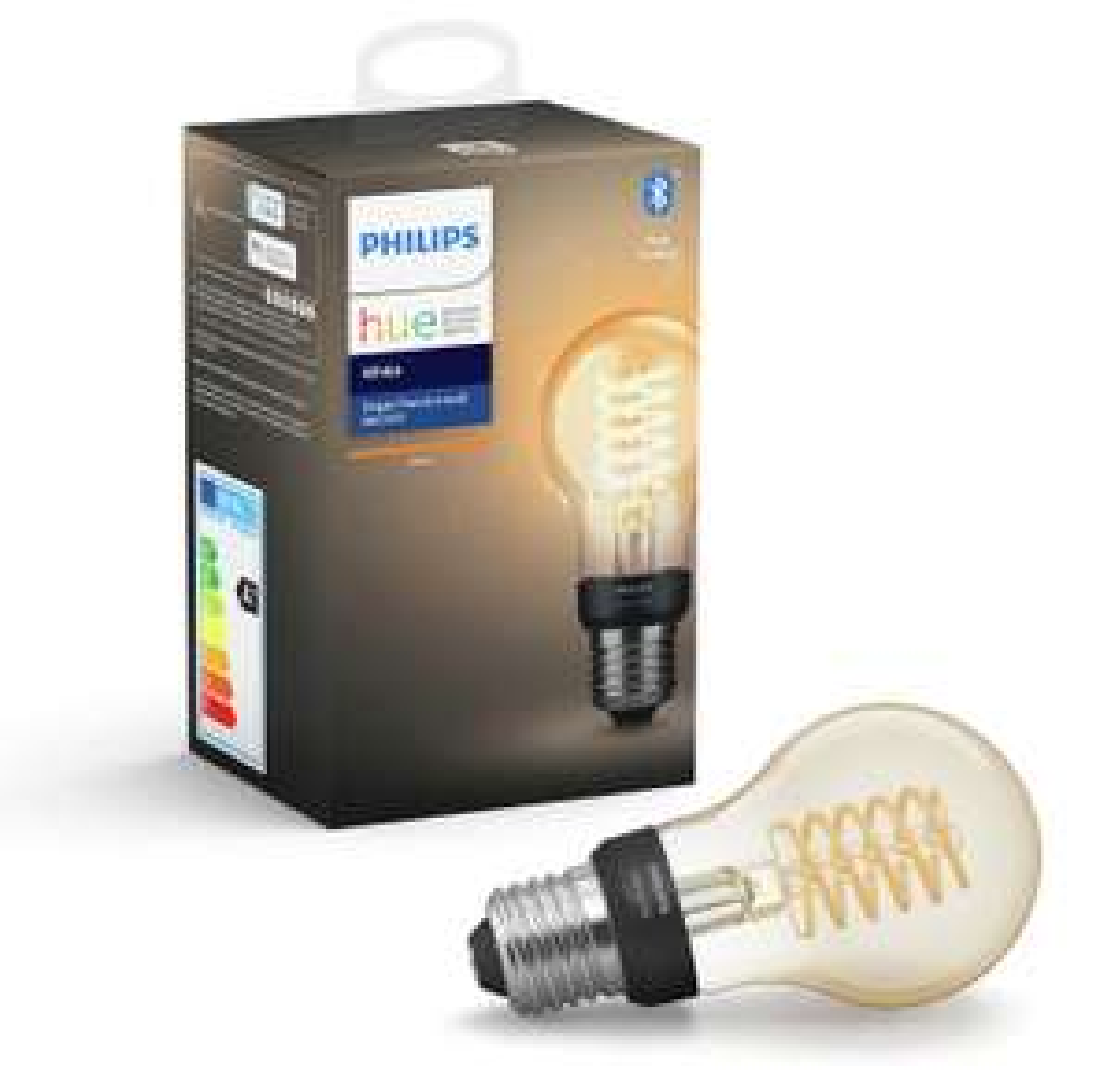 Philips Hue E27 White Smart Filament Bulb with Bluetooth £17.99 Argos
