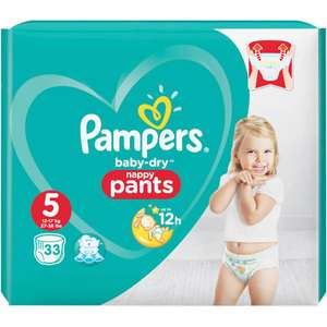 Pampers baby dry nappy pants size 5 33 pack £1 Asda instore