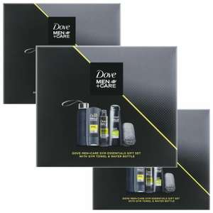 Dove Men+Care Gym Essentials Gift Set With Gym Towel & Water Bottle - £6.74 each, when you buy 3 offer £20.24 @ eBay - avantgardebrands