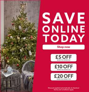 Centre money off instore & Online @ Dobbies garden