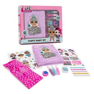 L.O.L Surprise! Design Your Own Fluffy Diary Set £6.50 @ The entertainer Free Click and collect from Asda