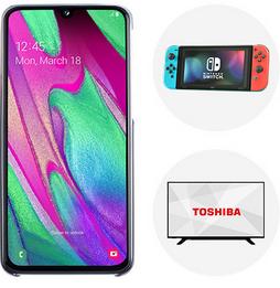 "Samsung Galaxy A40 Essential Plan 10GB £31 p/m 24 months £744 @ EE - free Nintendo Switch or Toshiba 4K 43"" TV"