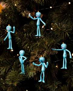 Official Rick and Morty Meeseeks Christmas Decorations - £9.99 - GeekStore