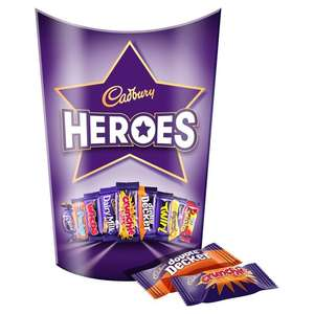 Cadbury Heroes 185g,Quality Street 240g ,Cadbury Roses £1.50 @ Morrisons