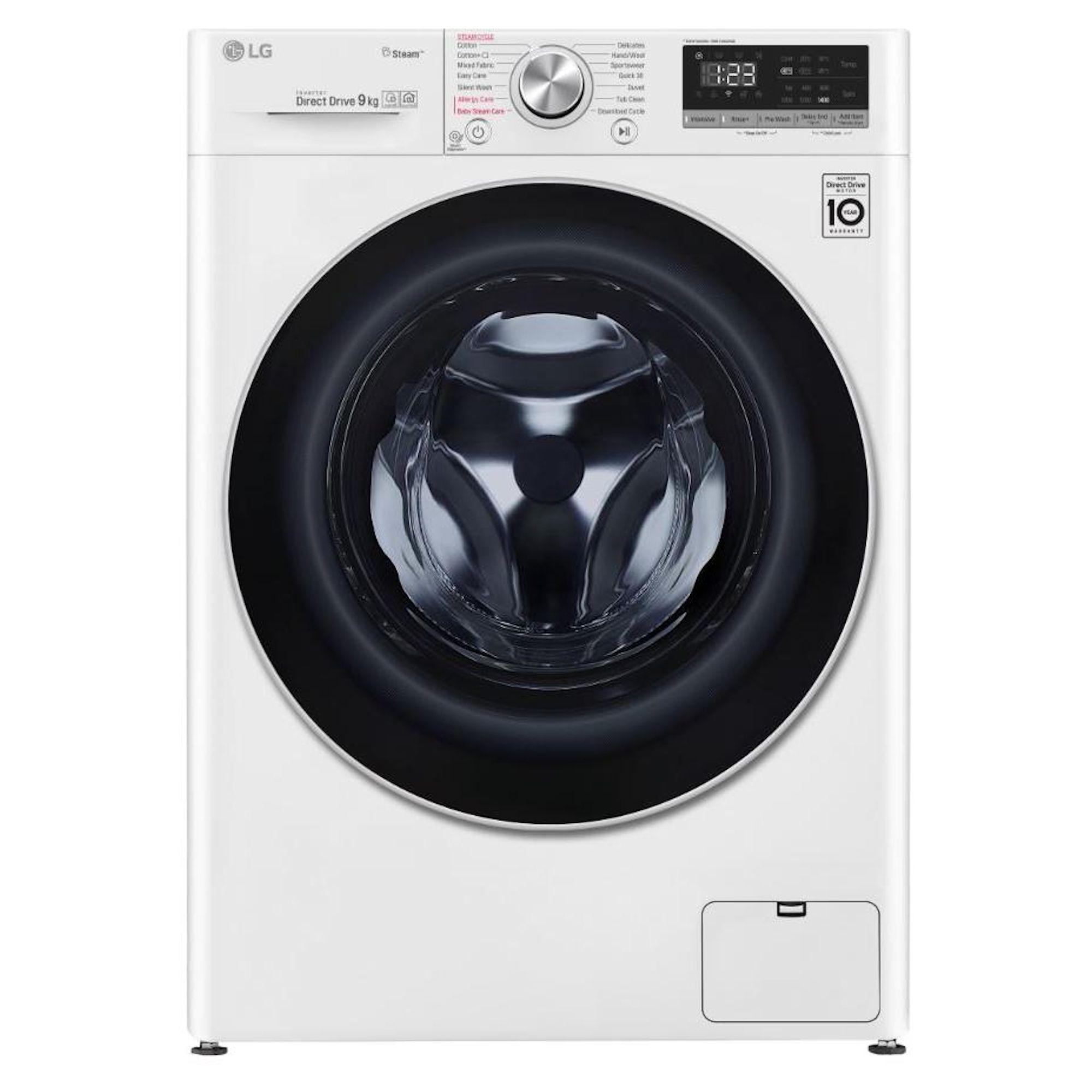LG F4V509WS 9KG 1400 Washing Machine Latest 2019 model 5 year warranty £379 at Hughes