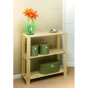 Wickes 3 Tier Pine Shelving Unit - £10.00 / 5 Tier Pine Shelving Unit - £18.00 @ Wickes + free click & collect