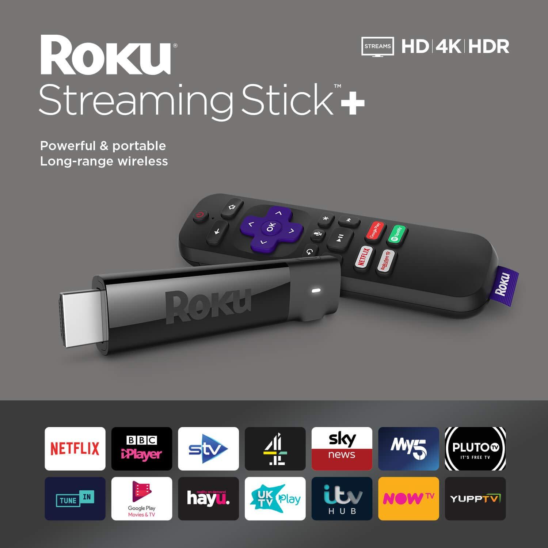 Roku Streaming Stick+ HD / 4K / HDR Streaming Media Player £29.99 @ Argos