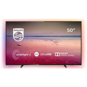 Philips 50 Inch 50PUS6704 Smart Ambilight 4K HDR LED TV + Free Philips HTL1510B/05 70W RMS 2.1Ch Wireless Sound Bar - £399 @ Argos