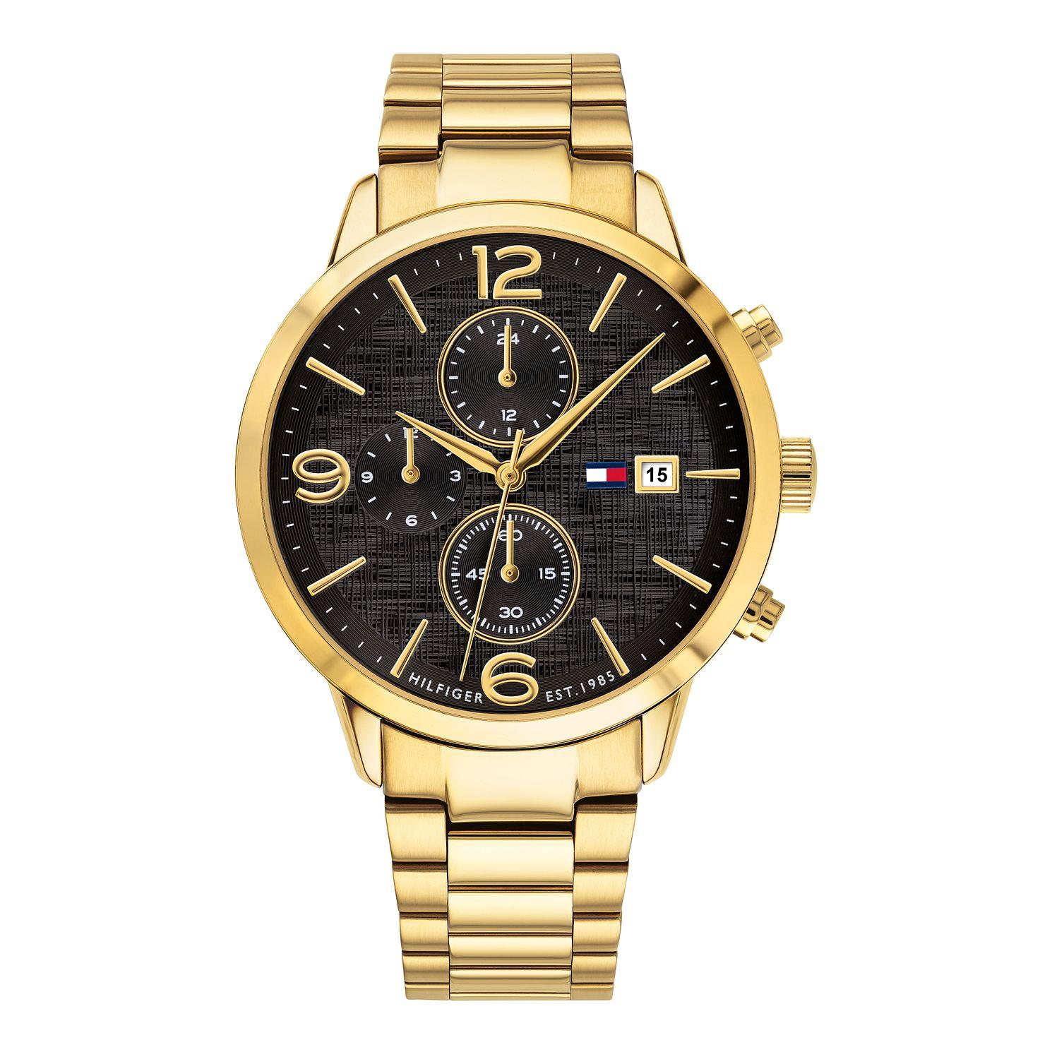 Tommy Hilfiger 1710362 Men's Gold Tone Black Dial Chronograph Watch £89.99 Delivered @ H Samuel