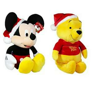 "Giant Christmas Mickey Mouse Plush Soft Toy / Giant Christmas Winnie the Pooh Plush Soft Toy (25""/63cm) £10 @ The Works with code (Free C&C)"