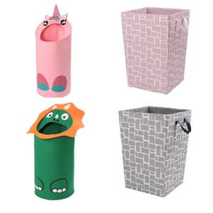 Kids Laundry Hamper - Unicorn, Dinosaur, Pink Blush, or Grey- £3.00 @ Homebase + free click & collect. See OP