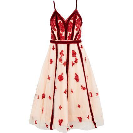 A STAR IS BORN Pink & Red Butterfly Mesh Midi Dress £49.99 + £1.99 c&c @ Tk Maxx