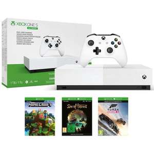 Xbox One S 1TB All-Digital Edition Console with Sea of Thieves, Minecraft and Forza Horizon 3 £169.99 from Monster-Shop