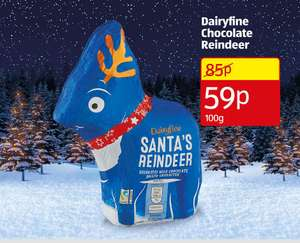 Chocolate reindeer 59p (stil ongoing) @ Aldi