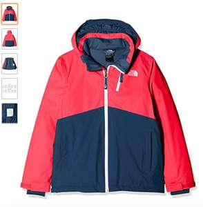 THE NORTH FACE Children's Youth Snowquest Plus Jacket (SMALL Rocket red only)