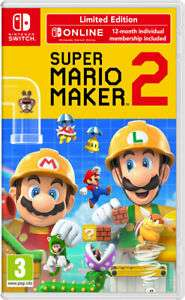 Super Mario Maker 2 Limited Edition + 1 Year Online Membership £40.76 @TheGameCollectionOutlet/ebay ( Nintendo Switch )