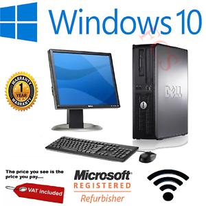 DELL/HP DUAL CORE DESKTOP TOWER PC & TFT COMPUTER SYSTEM WINDOWS 10, 4GB, 250GB - Refurb £47.99 @ firstclicksolutions ebay