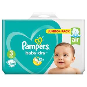 2 x Pampers Baby-Dry Size 3 Nappies Jumbo+ Packs (200 nappies) Fro £17 @ Asda