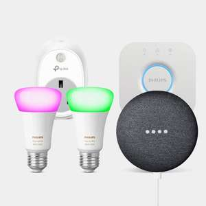 Get a FREE TP-Link Smart Plug and Google Nest Mini When you buy a Philips Hue Mini Starter Kit £134.99 @ EDF Smart Hone