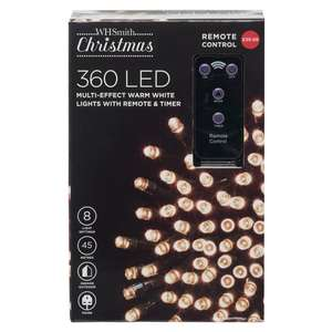 360 LED Multi-Effect Warm White Christmas Lights with Remote & Timer £19.99 @ WH Smith