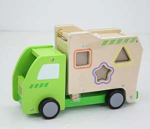 Wooden Garbage Truck shape sorter £8 @ Asda / George