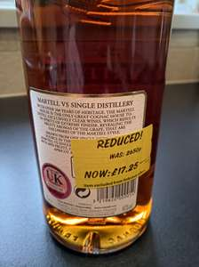 1litre Martell Brandy £17.25 at Asda Boldon