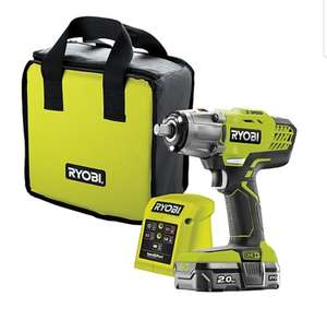 Ryobi ONE+ Cordless 18 2Ah ONE+ Brushed Impact Wrench 1 battery with 4 accessories R18IW3-120S £120 at B&Q