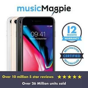 Refurbished Good IPhone 8 64GB Vodafone Space Grey Smartphone £191.99 With Code @ Music Magpie Ebay
