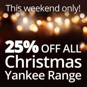 25% off all Christmas Yankee Candle range at Bents