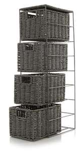 Grey Woven 4 Drawer Unit now £12 free click and collect @ George Asda / available in white