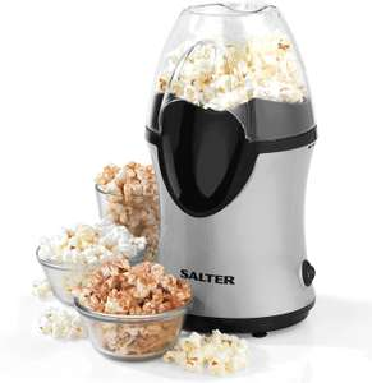 Salter EK2902 Healthy Fat-Free Electric Hot Air Popcorn Maker, 1200 W, Black/Grey £9 @ Tesco (Maryhill)