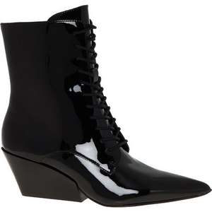 CALVIN KLEIN Black Patent Pointed Boots £39.99 +£1.99 c&c @ Tk Maxx
