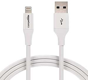 AmazonBasics USB A Cable with Lightning Connector 3 Feet (0.9 Meters) - 12-Pack - White £18.60 at Amazon Prime / £23.09 Non Prime