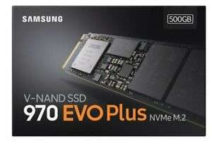 Samsung 970 EVO Plus V-NAND M.2 500GB NVMe SSD Sq. R/W up to 3500MB/s & 3200MB/s for £84.72 Delivered With Code @ Ebuyer / Ebay