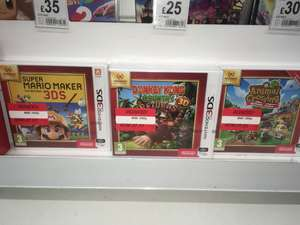 3DS Nintendo selects games £7.50 at ASDA Shaw