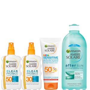 Amre Solaire Multipack Kit, Kids and Adults SPF 30 and SPF 50 + Aftersun (4-Piece) £9.11 at Amazon Prime / £13.60 Non Prime