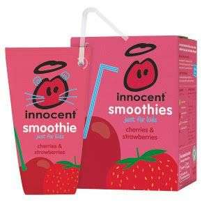 Innocent smoothies just for kids cherries and strawberries £1 at Heron food Perry barr