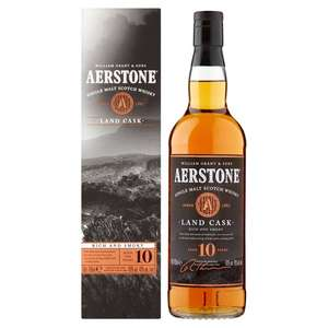 Aerstone Land Cask 10 Year Old Whisky 70Cl - Smoky £16.50 instore @ Tesco